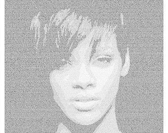 Rihanna Lyrical Poster