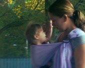 Lavender Gauze Baby Ring Sling