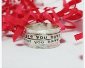 Personalized Double Spinner Ring - Sterling Silver Spinner Ring - Worry ring - Gifts for Her - Kids Name Ring