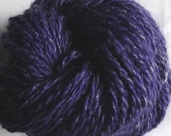 Denim Blue Jeans Handspun Yarn - 100% Merino Wool Yarn - 77 yds, Sport