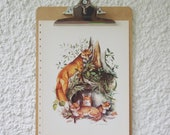 CLEARANCE SALE, 50% OFF! Vintage Red Fox Wildlife Print by James L. Lockhart