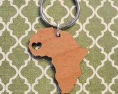 Senegal Love Wood Key Ring