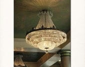 "New Orleans Art Photograph ""Bourbon Orleans Chandelier"" Louisiana French Quarter Antique Chandelier Photography. Art Deco."