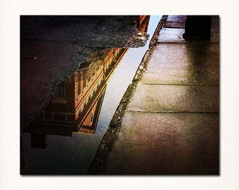 "Picture of New Orleans, French Quarter Photograph, ""Puddles of the Past"" Print. Mardi Gras."