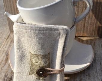 Steampunk Owl Tea Wallet