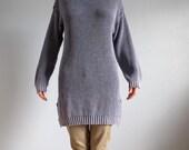 SALE Oversized unisex blue  cotton sweater by bonjour international