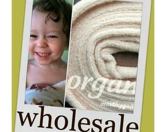 10 Yards Organic Terry Cloth Fabric  - By the Yard Yardage - Domestically Made GOTS Certified Yardage Cream Ivory
