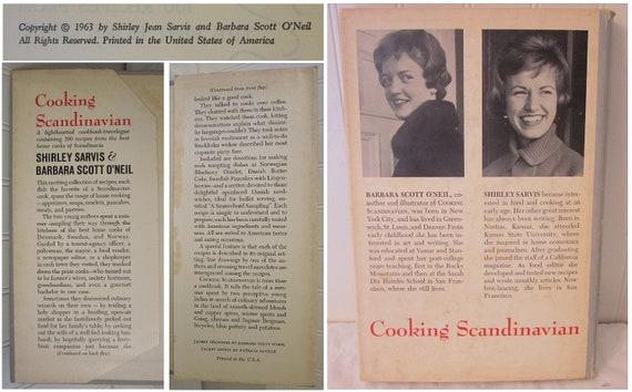vintage Cooking Scandinavian Cookbook - Travelogue by Shirley Sarvis & Barbara Scott O'Neil HC DJ (c) 1963 book