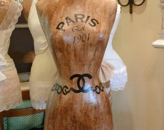 Dress Form Designer Fashion Mannequin Paris Vintage Inspired Custom Orders Accepted FREE SHIP & Layaway Available