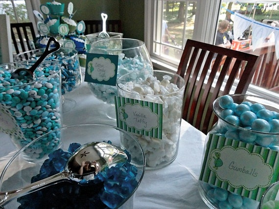 Turtle Boy Candy Table Buffet Label Party Printable - Stick to Your Story