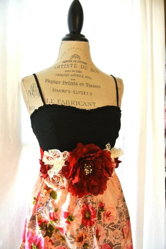 Romantic Rustic Fall Dress Shabby Slip Dress Womens