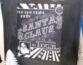 Chalkboard Art Santa Print - Printable