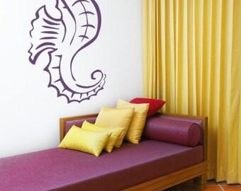 Seahorse Decal, Seahorse Wall Decal, Beach Decor, Beach Wall Art, Coastal Decor Beach, Nursery Wall Decal, Animal Decals, Dorm Decor