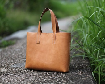 Handmade Leather Tote Bag - made to order