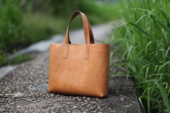 items similar to handmade leather tote bag made to order