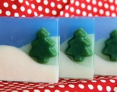 Winter Wonderland Glycerin Soap for Christmas or Birthday Gifts