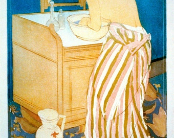 """New Giclee Reproduction of """"Woman Bathing"""" by Mary Cassatt circa 1891 - 10x14"""