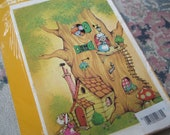 Mouse Treehouse Large Decal Sheet, Vintage Meyercord