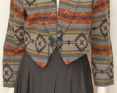 Vintage Striped Southwestern Jacket