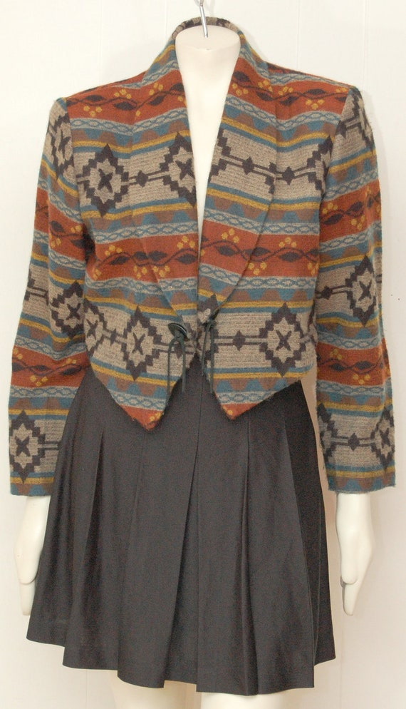 Vintage Striped Southwestern Jacket