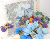 Reserved for TexCo Glorafilia PEACOCK & CONTENTED CAT Needlepoint Kits PeachyChicSewing on Etsy