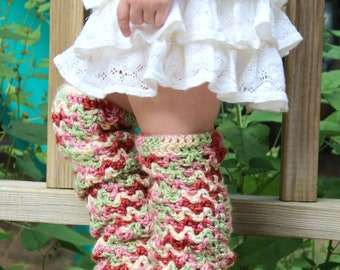 PDF scallops and lace baby leg warmers crochet pattern for baby and kids