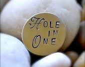 Golf Ball Marker - Hand Stamped and Custom Created -  Sterling Silver and Copper