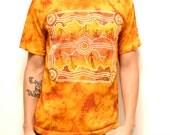 TRIBAL TIE DYE fire color t-shirt