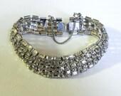 Vintage Bracelet Glamorous 50s Rhinestone Bracelet - on sale