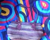 SALE 80s Woven Tote Bucket Bag