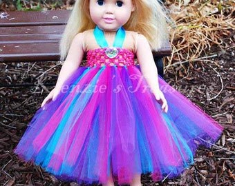 "Beautiful Princess Empire Waist Tutu Dress - Fits American Girl Dolls and other 18"" Dolls"
