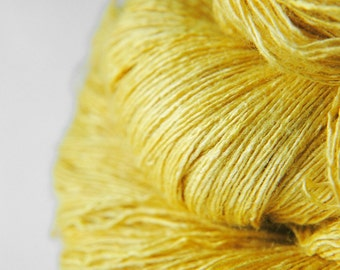 Withering sunflower - Tussah Silk Lace Yarn