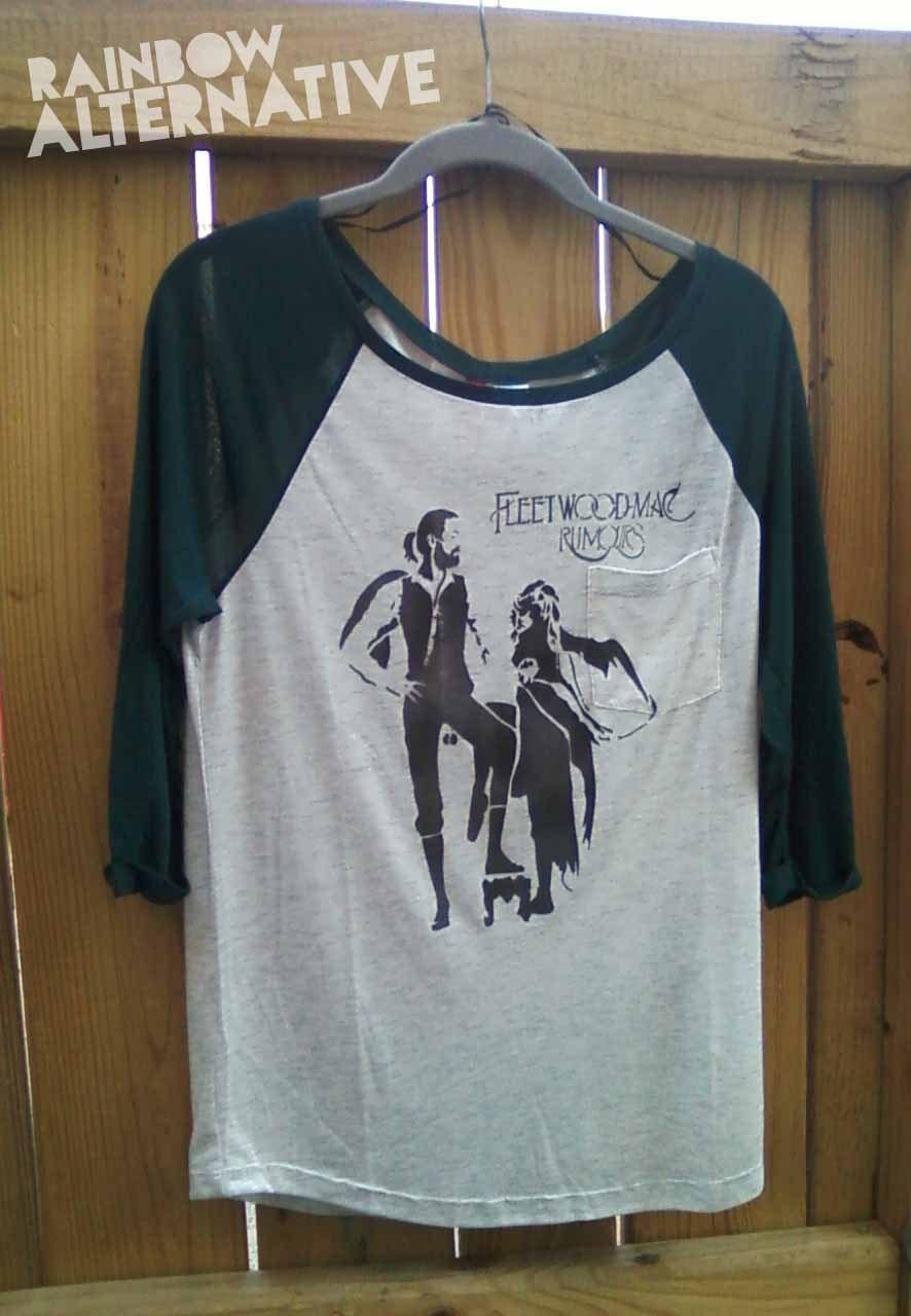 Fleetwood Mac Rumours Tshirt 3 4 Length Sleeve Womens Baseball