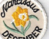 Narcissus December Rare Collectible Vintage 70's New Sewing Applique Patch