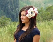Liberty Belle FOURTH OF JULY Couture Flower Headband or Hair Clip