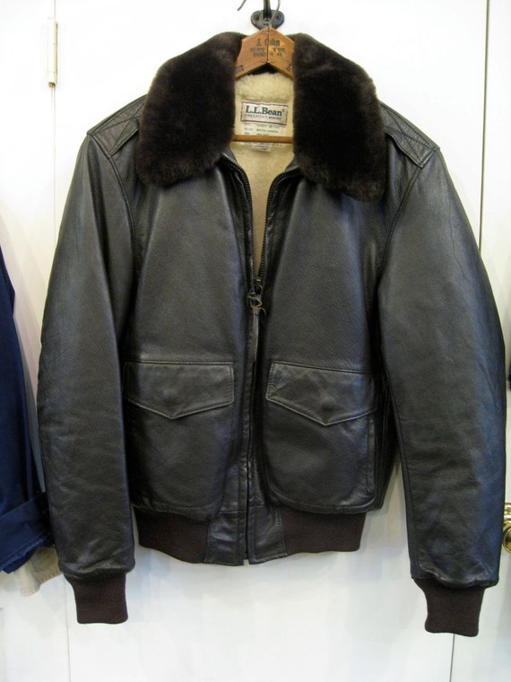 Deadstock 1970 S Ll Bean Leather Bomber Jacket With
