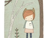 Kids Art Print Lively in the Woods