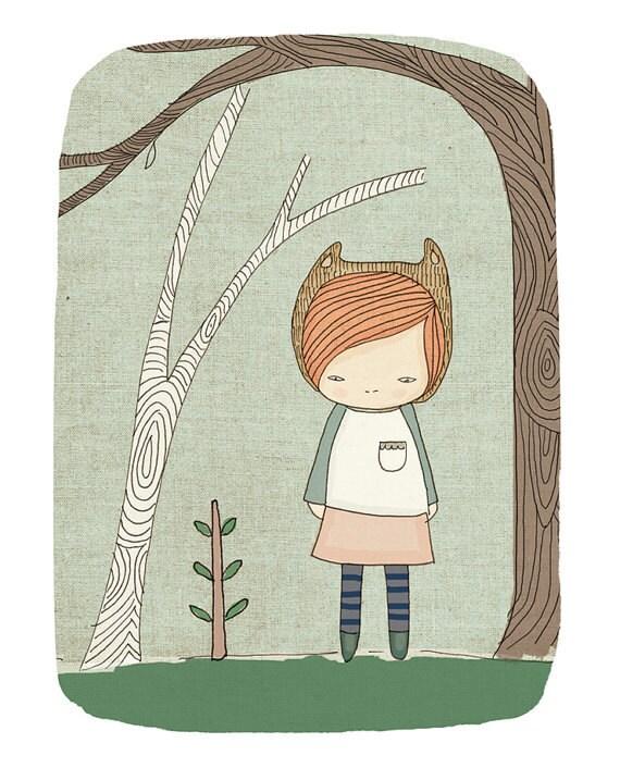 Kids Modern Prints, Kid Room Art, Kids Bear Art, Cute Girls Art Prints, Whimsical Art, Whimsical Prints, Kids Prints, Nursery Print - Lively