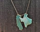 Any 2 States Patina Necklace