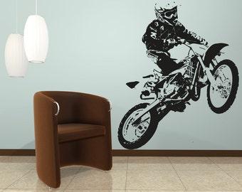 Vinyl Wall Decal Sticker Motocross OSAA194B