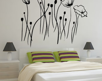 Vinyl Wall Decal Sticker Flower Meadow OSMB745m