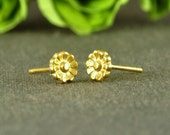 SPRING SALE 10% Off: Small stud earrings, gold flower post earrings, everyday earrings, stud post earings, gift under 20 USD