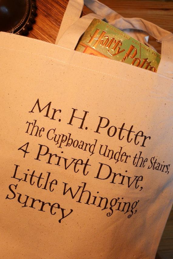 Harry Potter tote bag, 4 privet drive, Harry potter, hogwarts, hogwarts letter