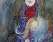Lady of the Wildwood goddess by Helena Nelson - Reed earth mother imagery
