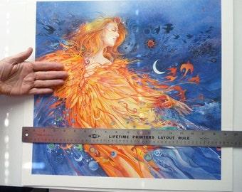 Cosmic Dream, dreaming the universe into creation brilliant luminous water color art