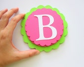DIY Happy Birthday Banner Set, Ready to Build Banner Lime Green and Hot Pink Banner A385