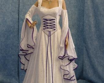 Renaissance dress, medieval bridal gown, handfasting dress, elven dress, wedding dress, custom made
