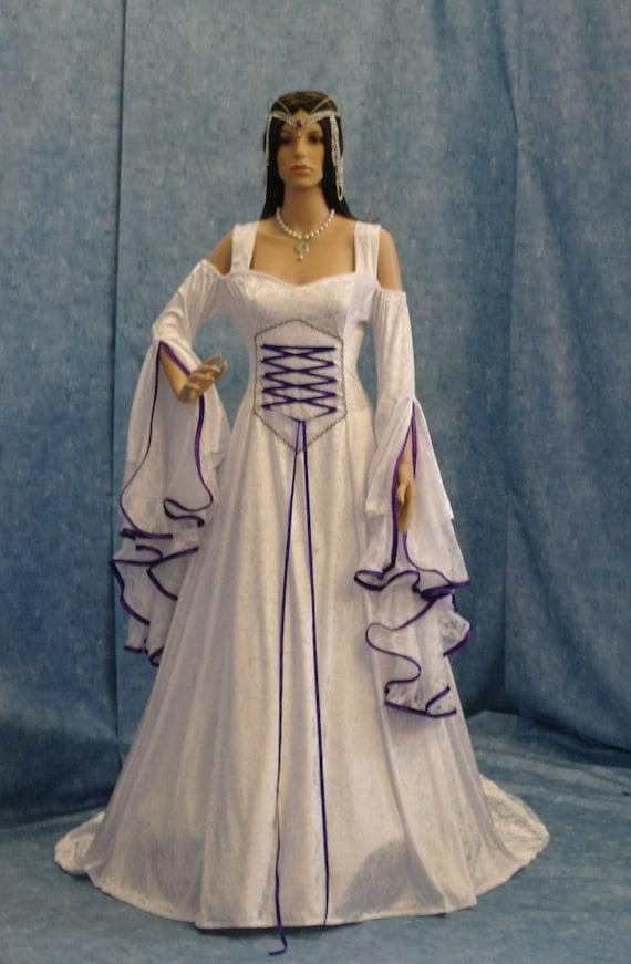 Purple gothic corset wedding dresses