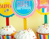Candy Land Sweet Shop Birthday PRINTABLE Party Circles by Love The Day