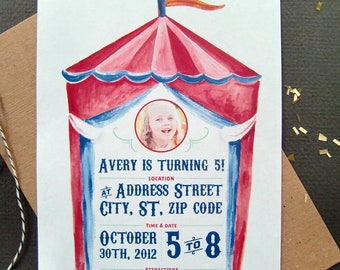 Circus Party Invitation//PDF Only//Personalization//Birthday Party
